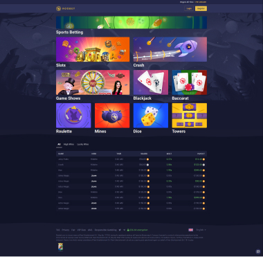 Roobet Site Preview